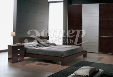 Кровать Турин из массива дуба