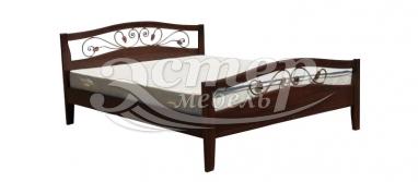 Кровать Станли (ковка) из массива березы с подъемным механизмом