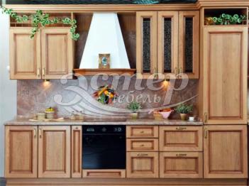 Кухня Виктория из массива сосны