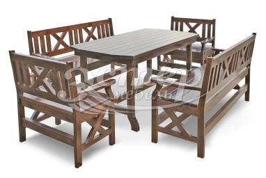Набор мебели для веранд и террас Дубрава из массива сосны