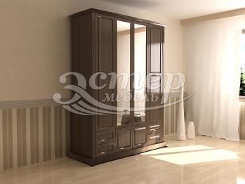 Шкаф четырехстворчатый с зеркалом из серии