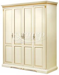 Шкаф Милано 4-х створчатый из массива сосны