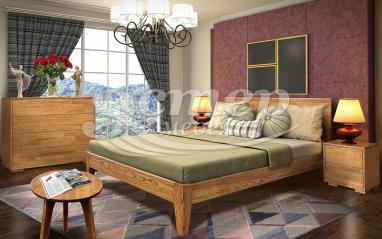 Спальный гарнитур Лоренцо из массива дуба