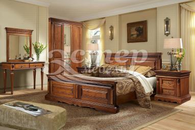 Спальный гарнитур Милано 2 из массива сосны