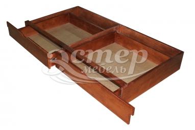 Ящик подкроватный на направляющих из массива дуба