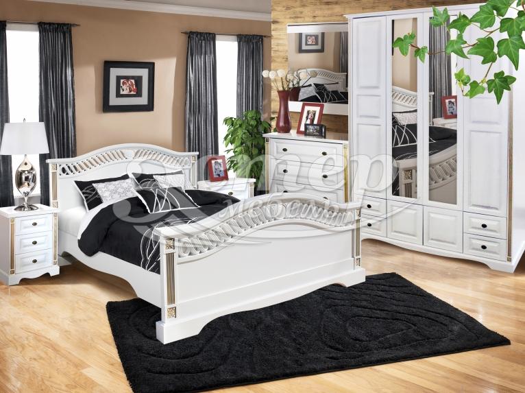 Спальный гарнитур Милена из массива сосны
