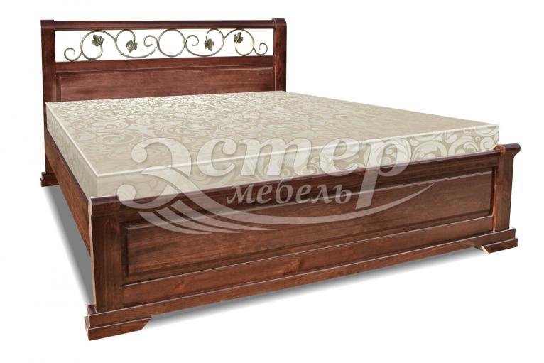 Кровать Луиза (ковка) из массива сосны