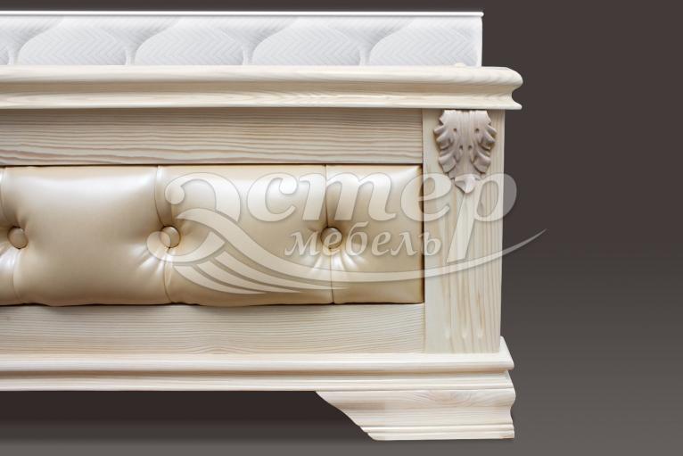 Кровать Флавия с мягкой вставкой из массива дуба