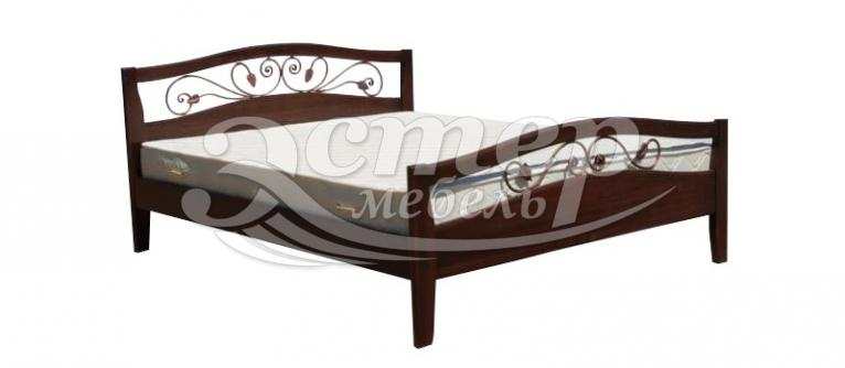 Кровать Станли (ковка) из массива бука