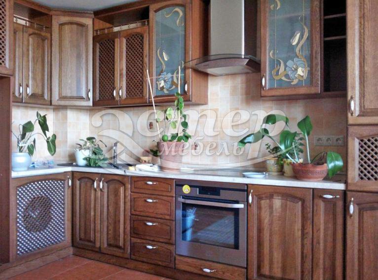 Кухня Кристина из массива сосны