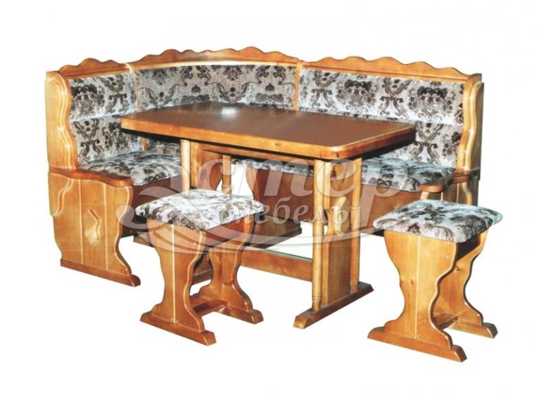 Кухонный уголок Светлана из массива дуба