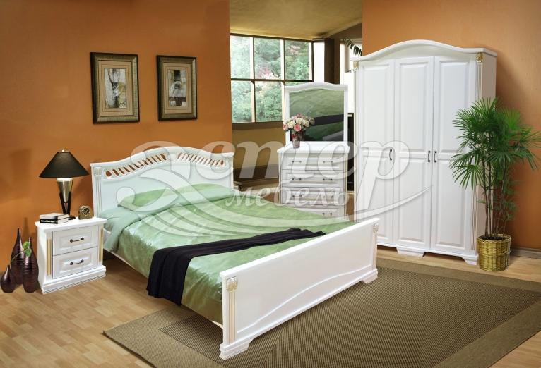 Спальный гарнитур Флавия из массива дуба
