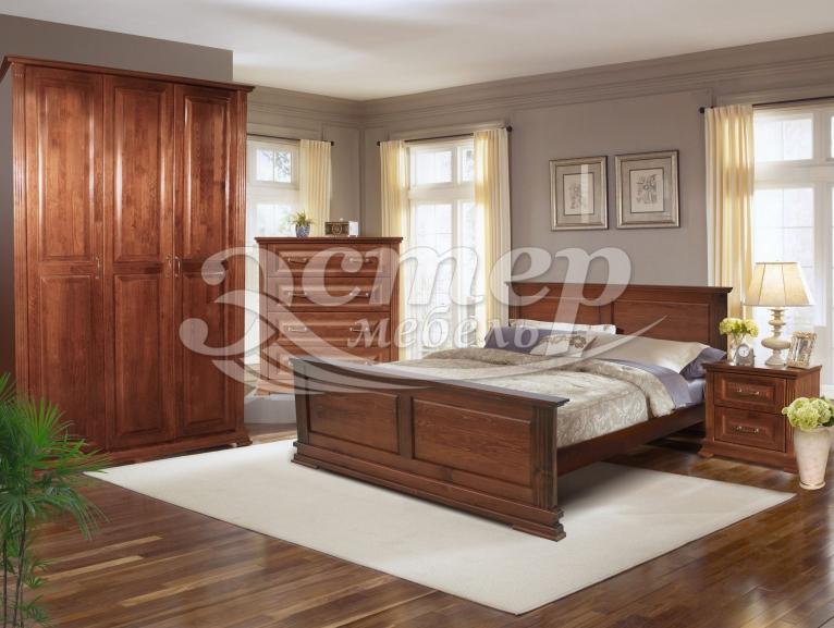 Спальный гарнитур Лирона из массива дуба
