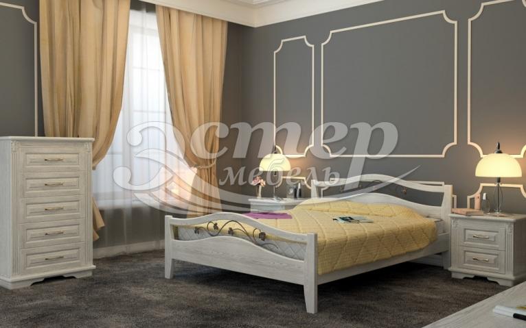 Спальный гарнитур Валерия 1 из массива сосны