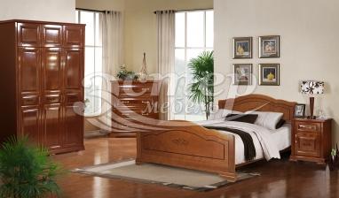 Спальный гарнитур Севилья из массива дуба