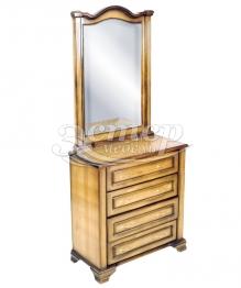 Комод Марко с зеркалом из массива сосны