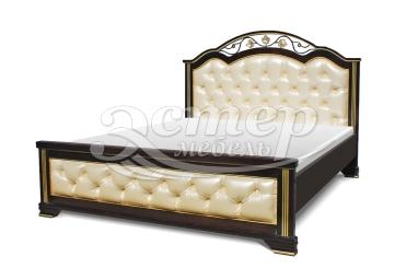 Кровать Пальмира с мягкой вставкой из массива дуба