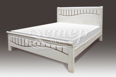 Кровать Герона из массива дуба