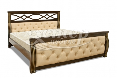 Кровать Петергоф из массива сосны