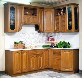 Кухня Лада из массива березы