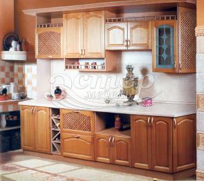 Кухня Венера из массива березы