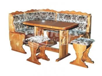 Кухонный уголок Светлана из массива березы