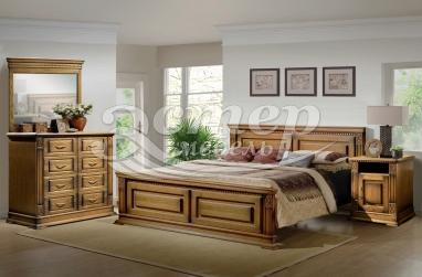 Спальный гарнитур Верди из массива дуба