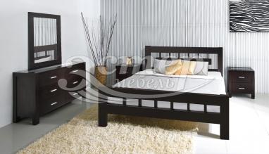 Спальный гарнитур Сория из массива дуба