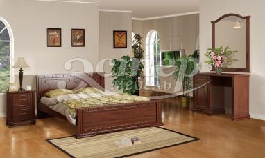 Спальный гарнитур Венеция из массива дуба