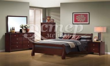 Спальный комплект Альмерия из массива дуба